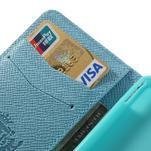 Peněženkové PU kožené pouzdro na Sony Xperia Z1 Compact - modré - 5/7