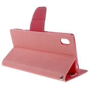 Mercur Peňaženkové puzdro pre Sony Xperia Z5 - ružové - 5