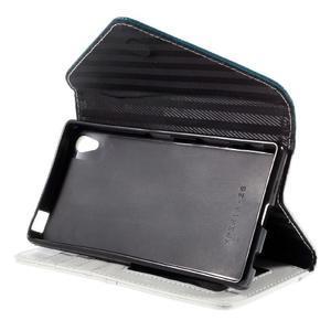 Štýlové Peňaženkové puzdro Sony Xperia Z5 - modré - 5