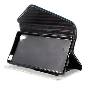 Stylové peněženkové pouzdro Sony Xperia Z5 - modré - 5