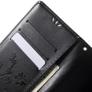 Butterfly PU kožené pouzdro na Sony Xperia Z5 - černé - 5