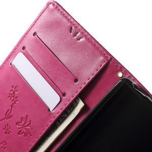 Butterfly PU kožené pouzdro na Sony Xperia Z5 - rose - 5