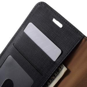 Grid PU kožené pouzdro na Sony Xperia Z5 - černé - 5