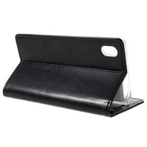 Moon PU kožené puzdro pre Sony Xperia Z5 - čierne - 5