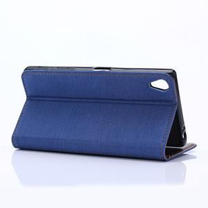 Štýlové jeans puzdro pre mobil Sony Xperia Z5 - modré - 5