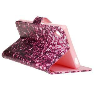 Koženkové pouzdro na mobil Sony Xperia Z5 - fialové fragmenty - 5