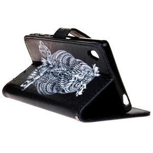 Koženkové puzdro pre mobil Sony Xperia Z5 - sova - 5