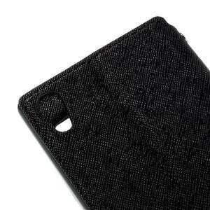 Diary puzdro s okienkom na Sony Xperia Z5 - čierne - 5