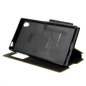 Diary puzdro s okienkom na Sony Xperia Z5 - žlté - 5