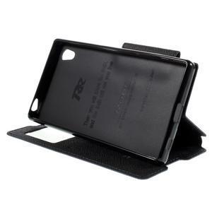 Diary pouzdro s okýnkem na Sony Xperia Z5 - tmavěmodré - 5