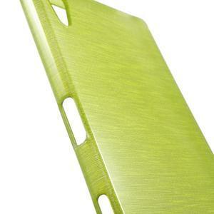Brush lesklý gélový obal pre Sony Xperia Z5 - zelený - 5