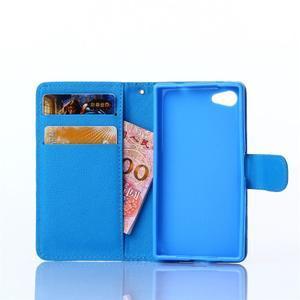 Sand puzdro pre mobil Sony Xperia Z5 Compact - modrý chevron - 5