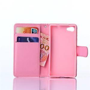 Sand puzdro pre mobil Sony Xperia Z5 Compact - retro kvetiny - 5