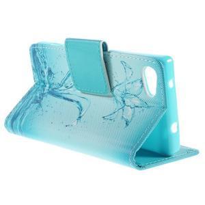 Diary Peňaženkové puzdro pre Sony Xperia Z5 Compact - vodní kvet - 5