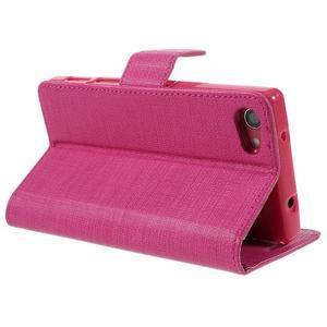 Grid Peňaženkové puzdro pre mobil Sony Xperia Z5 Compact - rose - 5