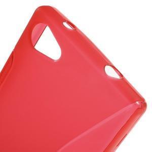 S-line gélový obal pre Sony Xperia Z5 Compact - červený - 5