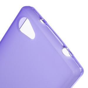 Matný gelový obal na Sony Xperia Z5 Compact - fialový - 5