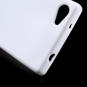 Solid lesklý gelový obal na mobi Sony Xperia Z5 Compact - bílý - 5