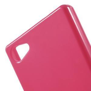Solid lesklý gélový obal pre mobi Sony Xperia Z5 Compact - rose - 5