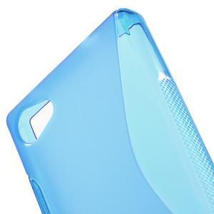 S-line gélový obal pre Sony Xperia Z5 Compact - modrý - 5