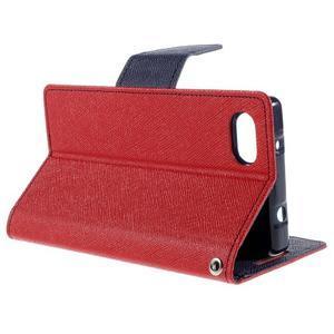 Fancy PU kožené puzdro pre Sony Xperia Z5 Compact - červené - 5