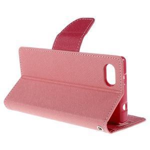 Fancy PU kožené pouzdro na Sony Xperia Z5 Compact - růžové - 5