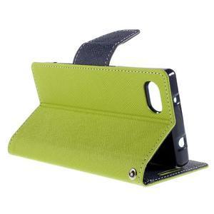 Fancy PU kožené pouzdro na Sony Xperia Z5 Compact - zelené - 5