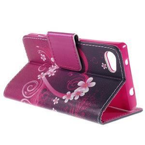 Diary Peňaženkové puzdro pre Sony Xperia Z5 Compact - srdce - 5