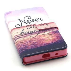 Peňaženkové puzdro pre mobil Sony Xperia Z5 Compact - neprestávaj snívať - 5