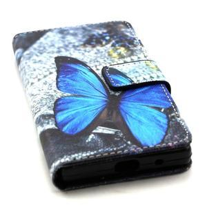 Peněženkové pouzdro na mobil Sony Xperia Z5 Compact - modý motýl - 5