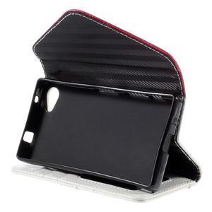 Štýlové Peňaženkové puzdro pre Sony Xperia Z5 Compact - rose - 5