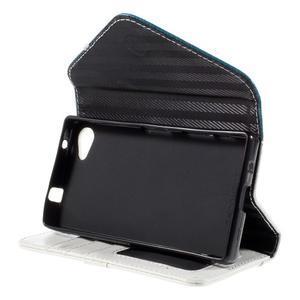 Štýlové Peňaženkové puzdro pre Sony Xperia Z5 Compact - modré - 5