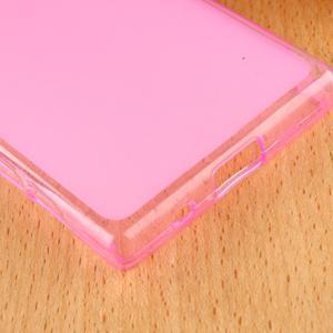 Double matný gélový obal pre Sony Xperia Z5 Compact - rose - 5