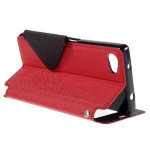 Puzdro s okienkom na Sony Xperia Z5 Compact - červené - 5