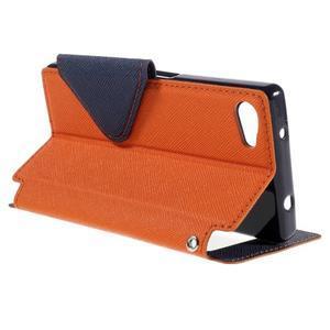 Puzdro s okienkom na Sony Xperia Z5 Compact - oranžové - 5