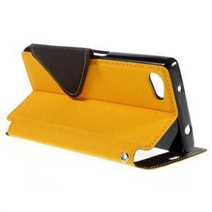 Puzdro s okienkom na Sony Xperia Z5 Compact - žlté - 5
