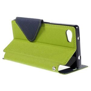Puzdro s okienkom na Sony Xperia Z5 Compact - zelené - 5