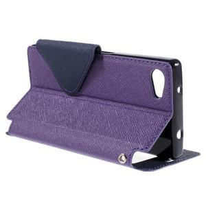 Puzdro s okienkom na Sony Xperia Z5 Compact - fialové - 5