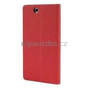 Peněženkové PU kožené pouzdro na Sony Z Ultra - červené - 5