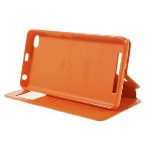 Luxy PU kožené puzdro s okienkom na Xiaomi Redmi 3 - oranžové - 5