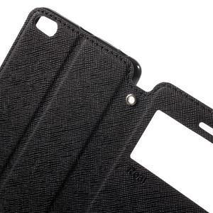 Diary view peňaženkové puzdro pre Xiaomi Redmi 3 - čierne - 5