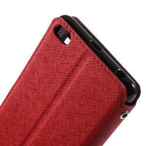 Diary view peňaženkové puzdro pre Xiaomi Redmi 3 - červené - 5