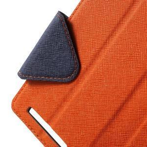 Diary view peňaženkové puzdro pre Xiaomi Redmi 3 - oranžové - 5