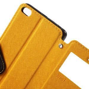 Diary view peněženkové pouzdro na Xiaomi Redmi 3 - žluté - 5
