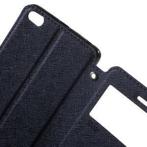 Diary view peňaženkové puzdro pre Xiaomi Redmi 3 - tmavomodré - 5