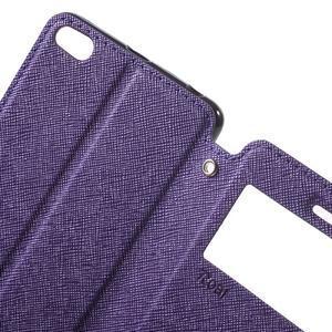 Diary view peněženkové pouzdro na Xiaomi Redmi 3 - fialové - 5