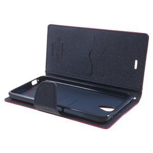 Goos PU kožené pouzdro na Xiaomi Redmi Note 2 - rose - 5