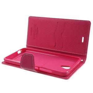 Goos PU kožené pouzdro na Xiaomi Redmi Note 2 - růžové - 5