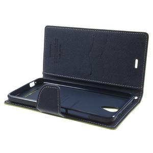 Goos PU kožené puzdro pre Xiaomi Redmi Note 2 - zelené - 5
