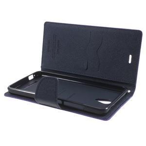 Goos PU kožené puzdro pre Xiaomi Redmi Note 2 - fialové - 5